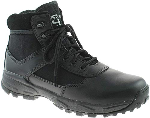 Grafters Unisex Cover II' Non-Metal Lightweight Combat Military Boots - Black Leather/Textile/Coated, Mens UK 5 / EU 39