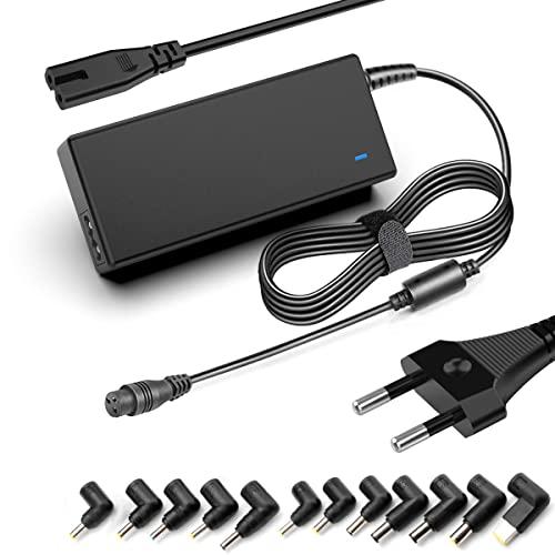 90W Universal Laptop Ladegerät 15V 20V Netzteil mit Automatischer Spannung, Geeignet für Laptops HP Dell Toshiba IBM Lenovo Acer Samsung Sony Chromebook Tablet und Smartphone