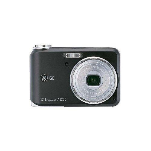 GE 12.1MP Digital Camera 3X Optical Zoom A1230 - Black