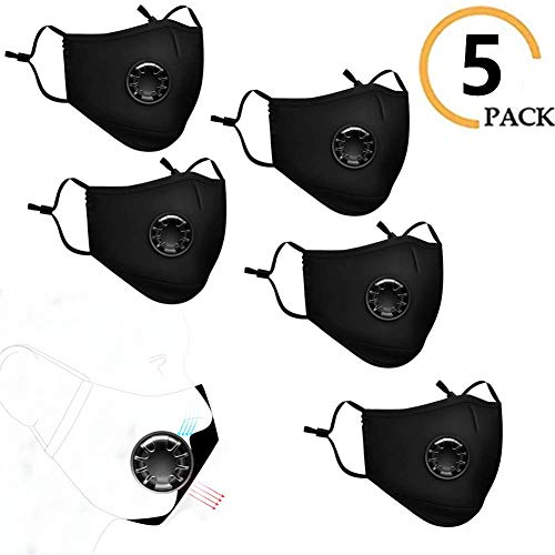 RHSMP 5 Stks Anti-Mist En Ademventiel Pm2.5 Driedimensionaal Filter Masker, Vervangbare Filter Mask Mouth voor Outdoor Sport