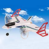 RC Avion Modèle vertical de vol 3D 6G EPP 2.4G 6CH Altitude attente à distance de contrôle Stunt à voilure fixe RTF Jouet adapté for les jeux for enfants (Couleur: Blanc, Taille: Taille) 8bayfa