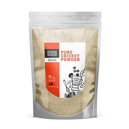 Exo Pure Cricket Protein Powder, 1 Pound, Low Carb, Dairy Free, Gluten Free