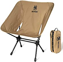 OneTigris Camping Backpacking Chair, 330 lbs Capacity, Heavy Duty Compact Portable Folding Chair for Camping Hiking Gardening Travel Beach Picnic Lightweight Backpacking