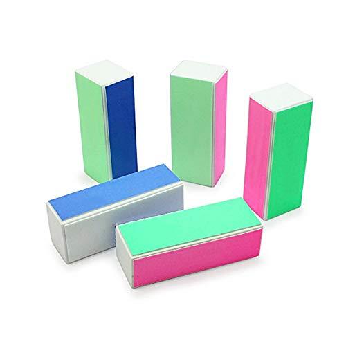 Gcroet 5PCES Ongles Fichiers PonçAge PonçAge 4-Way Block Ongles Shiner éPonge Nail Art PonçAge Polonais De Blocage De Fichiers