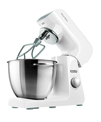 Sencor STM 40WH-Robot de Cocina (8 velocidades, 1 000 W), 1000 W, Acero Inoxidable, Blanco