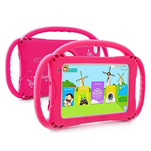 YXW Tableta HD para niños de 7 Pulgadas, Almacenamiento de 1GB + 16GB, Control Parental, Android 9.0, con Marco de Soporte, GPS, Bluetooth, WiFi, tabletas portátiles PC