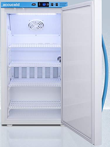 Summit Appliance ARS3PV Pharma-Vac Performance Series 3 Cu.Ft. Counter Height Vaccine All-refrigerator with Auto Defrost, Factory-installed Lock, Digital Thermostat and White Cabinet