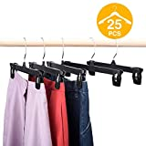 Best Pants Hangers - HOUSE DAY Skirt Hangers 25 Pcs 10inch Black Review