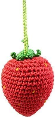 Red Strawberry Ornament for Christmas Tree Crochet Homemade Decor product image
