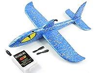 EP製 電動グライダー エアグライダー スタントグライダ― 充電式 飛行機 シャーク (青)