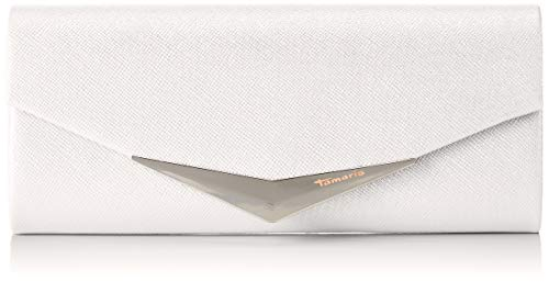 Tamaris Damen Tamara Clutch Bag, Weiß (White), 5x11x26 cm