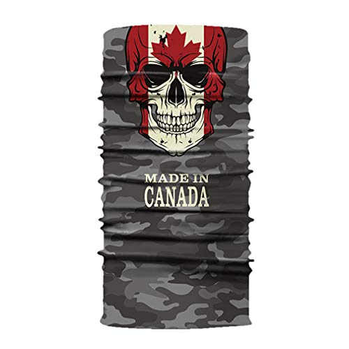 JK Home Nahtlose Bandanas Gesichtsmaske Stirnband Schal Headwrap Neckwarmer & More - 12 in 1 Multifunktional für Musikfestivals, Raves, Reiten, Outdoor Kanada