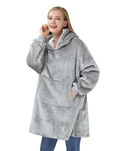 Freshhoodies Surdimensionné à Capuche Blanket Sweat-Shirt,Le Pull géant avec Grande Poche,Sweat à Capuche Doux et Confortable,1 Taille s'adapte à Tous
