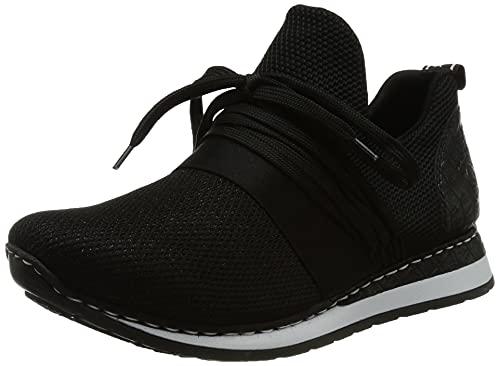 Rieker Damen N3053 Sneaker, schwarz / 00, 38 EU