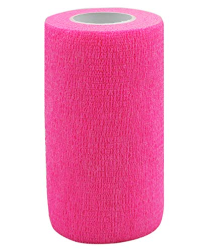 Risscly Rosa 10cm cohesive Bandage,selbsthaftende fixierbinde verband bandage mullbinden selbsthaftend bandagen 6 Rollen