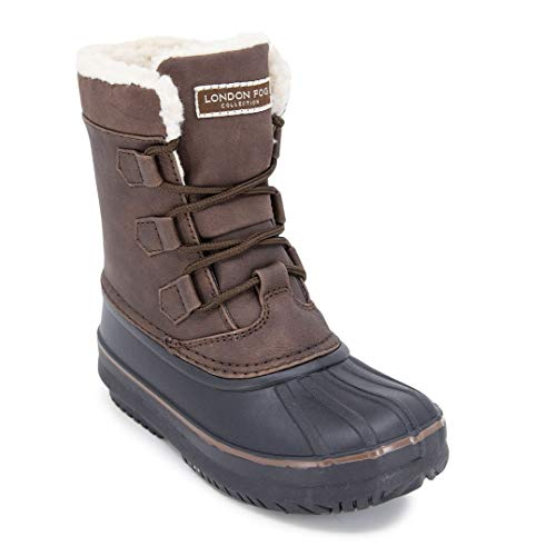LONDON FOG Boys Cheshire Cold Weather Snow Boot Brown 1