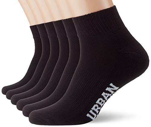 Urban Classics Unisex High Sneaker 6-Pack Socken, black, 43-46