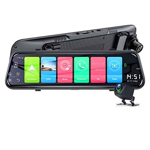 Flashing 10'IPS 4G Car DVR DVR Android GPS Navegación FHD 1080P Dash Dash Camera Dual Lente Car Video Recorder WiFi DVRS Bluetooth (Color : Z55-4G, Size : with 32G Card)