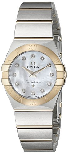 Omega 12320246055002 Damen-Armbanduhr, Analoganzeige, Schweizer Quarz, silberfarben