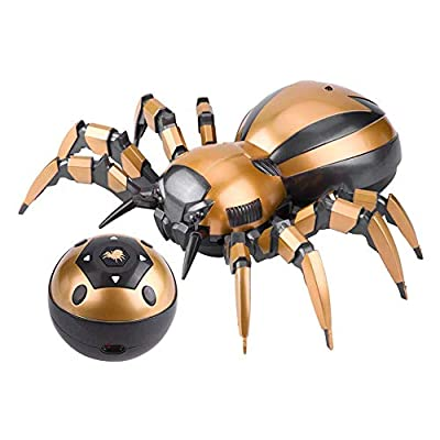 RC Spider Toy, Feilun FK502A Remote Control Mechanical Spider with LED Lights 360° Rotation RC Spider Model Toy Gift for Children Kids