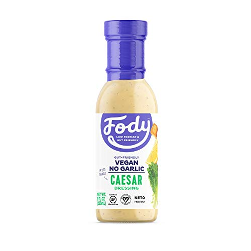 Fody Foods Vegan Caesar Salad Dressing | Low FODMAP Certified | Gut Friendly No Onion No Garlic | IBS Friendly Kitchen Staple | Gluten Free Lactose Free Non GMO