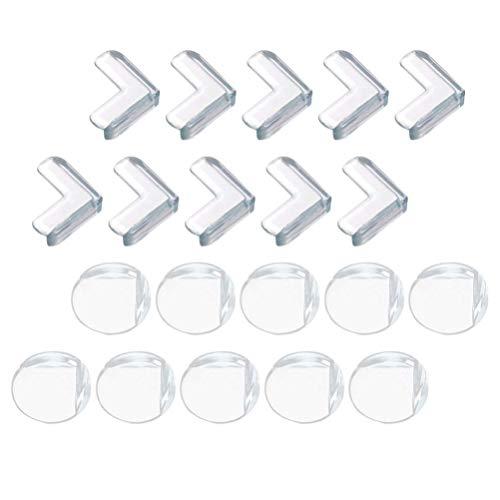 Scicalife 20 Piezas Parachoques de Borde Transparente Protectores de Esquina para Muebles de Bebé Parachoques de Esquina