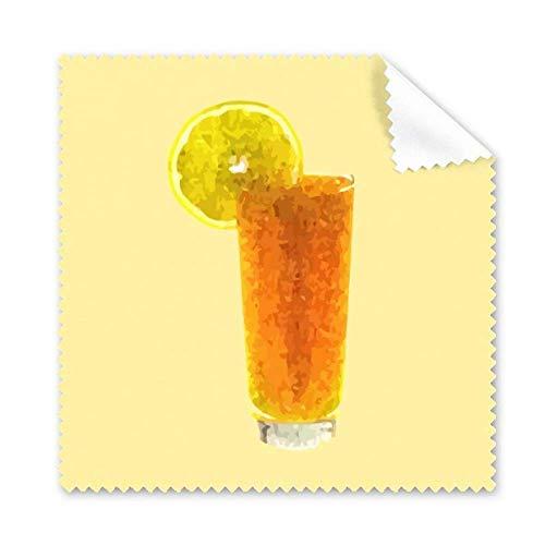 Limón naranja jugo forma granular arte paño limpieza pantalla teléfono gafas limpiador 5pcs