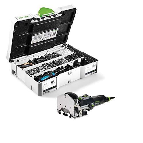 Festool DF 500 Q-Plus 494847 - Fresadora de tacos (420 W, 28 mm, con caja Systainer y conectores Domino)