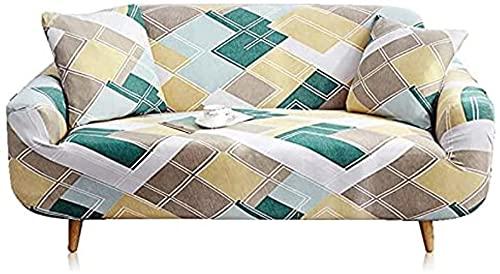 hd-3 Funda de sofá elástica para Sala de Estar Funda de sofá elástica segmentada Funda de sillón en Forma de L Funda de sofá Todo Incluido Antideslizante A5 4 plazas