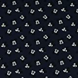 Baumwollstoff Mickey Mouse, 100% Baumwolle, dunkelblau