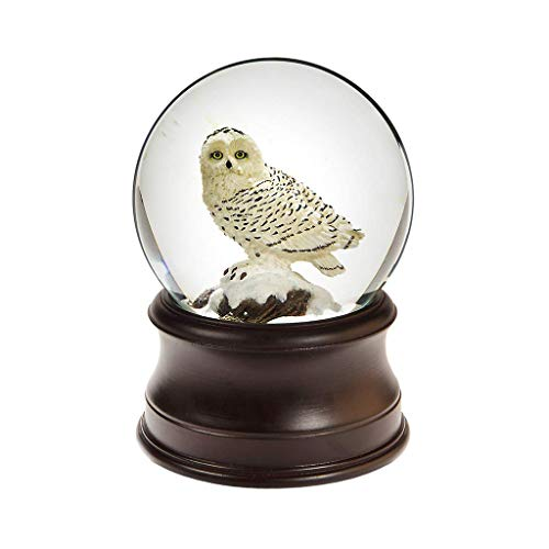 The San Francisco Music Box Company Snowy Owl Snow Globe Collectible Music Box Gift
