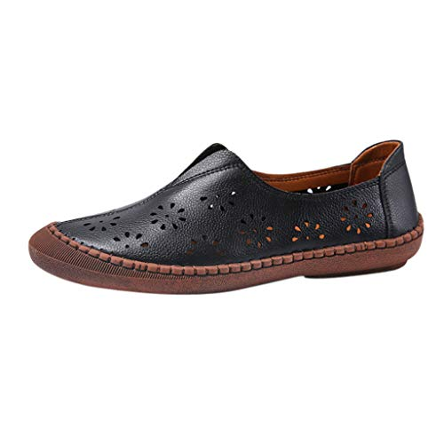 Sale!! Women's Loafers Shoes Casual Hollow Out Soft Soles Flats Shoes Ladies Slip-on Breathable Flat...