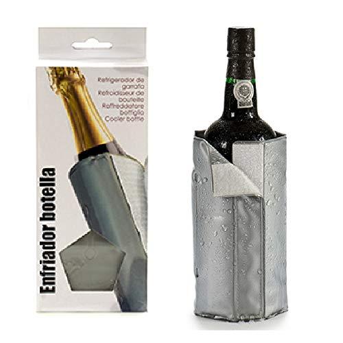 Flaschenkühler Manschette f. Wein, Bier u. a. Getränke, Weinkühler,Bierkühler Gel Kühlmanschette, Getränkekühler für Flaschen bis 9cm Durchm.,30x19 cm