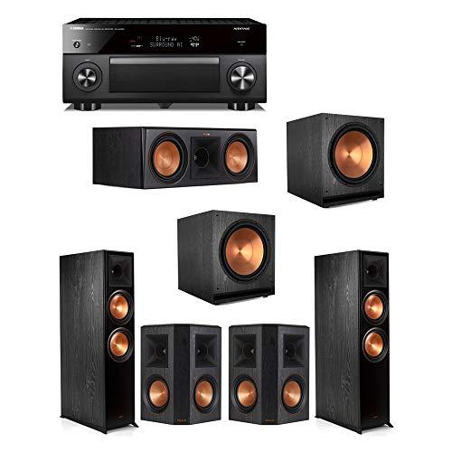 Amazing Deal Klipsch5.2.2 Ebony System - 2 RP-8060FA,1 RP-600C,2 RP-502S,2 SPL-150,1 RX-A3080 Rece...