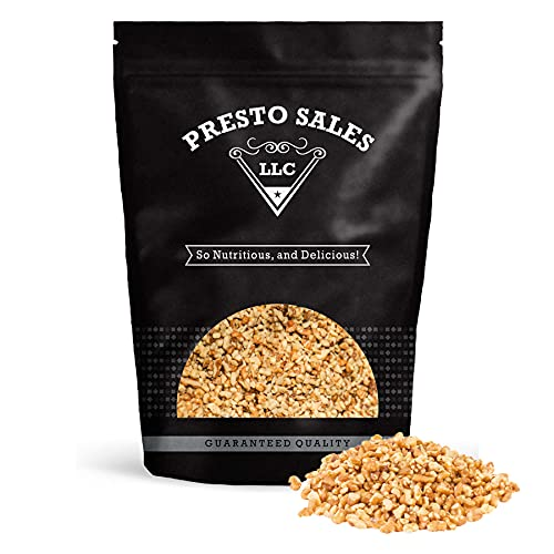 Walnuts, 'Fresh' Raw light Small Chopped California, healthy snack, perfection, vegan, gluten free, weight-loss, high protein, Packed in a 5 lbs. (80 oz.) resealable pouch bag by Presto Sales LLC