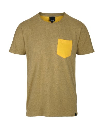 Bench - T-Shirt Araff, Maglia a maniche lunghe Uomo, Giallo (yolk yellow), Large (Taglia Produttore: Large)
