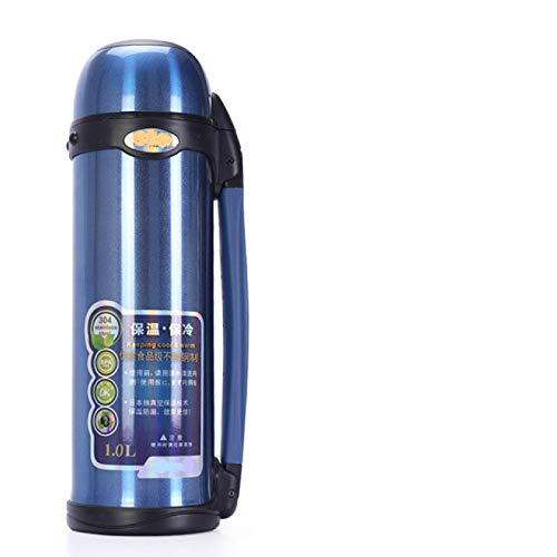 SENFEISM Termos de vacío de acero inoxidable 1L de alta capacidad al aire libre deporte viaje taza termo agua potable botella térmica