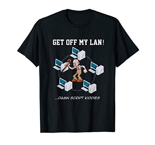 PC Tech Get off My LAN funny network admin T-Shirt