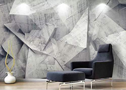 BZDHWWH Papel Tapiz geométrico Abstracto estéreo 3D con Fondo Gris Mural artístico para Pared Rollo de Papel de Pintura Papel Tapiz fotográfico 3D