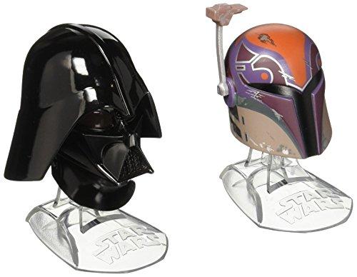 Star Wars Black Series Titanium Series Sabine Wren und Darth Vader Helme