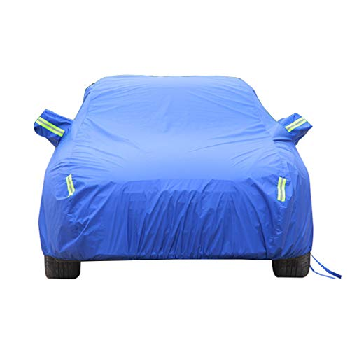 Couverture de voiture Compatible avec Skoda Car Cover Car Clothing épais Oxford Tissu Sun Protection Rain Cover Car Cloth Car Cover Car Cover (Couleur : Bleu)