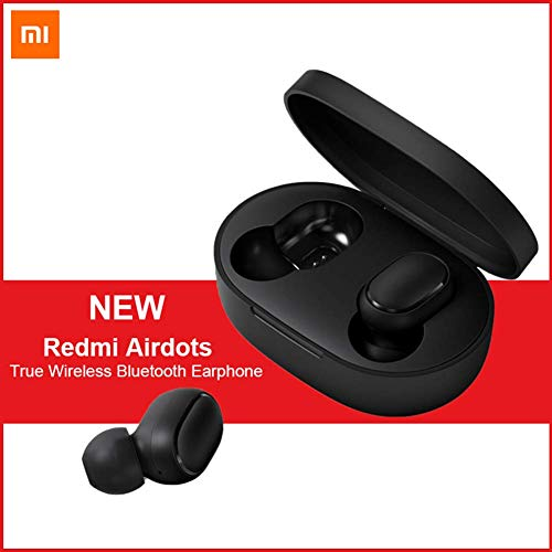OLLIVAN for Xiaomi Redmi Airdots, TWS Bluetooth 5.0 Earphone Stereo Bass Wireless Headphones 300mAh Charging Box True Stereo Sound Mini Wireless Earbuds IPX4 Sweatproof Earphones with Mic AI Control