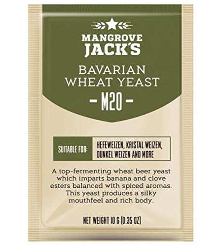 Mangrove Jack's Yeast M20 Bavarian Wheat Craft Series Yeast 10g treats 23L by Mangrove Jack
