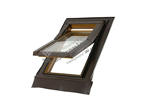 Skylight - Ventana de techo (PVC, 78 x 118 cm, con marco de