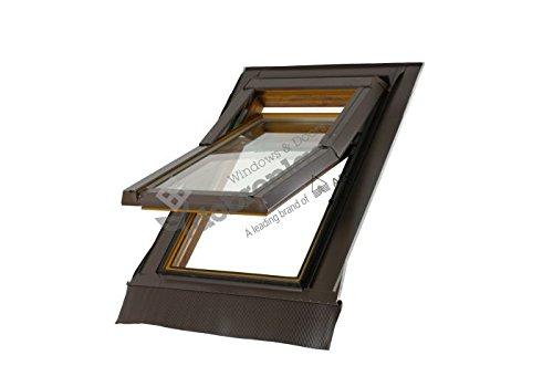 Skylight - Ventana de techo (PVC, 78 x 118 cm, con marco de cubierta, Ug=1,0 W2mK)