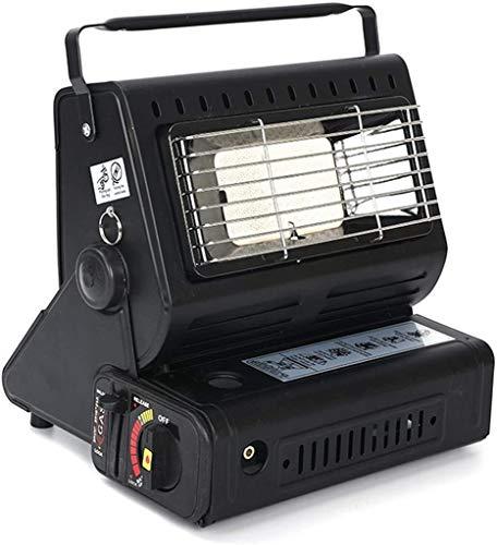 WYYW Doble propósito 1.3KW portátil Cocina de Gas del Calentador Camping - Ideal para Camping y Pesca con Mochila utdoor yendo de excursión,Negro