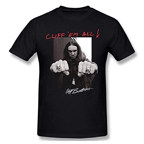 GSBTX® Metallica Cliff Burton Master of Puppets Herren Klassisch T-Shirt Black