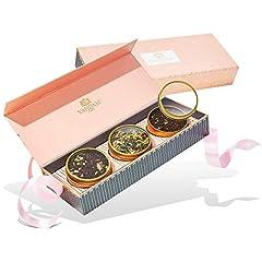 Idea Regalo - VAHDAM, set regalo di tè assortiti - Fard, 3 tè in una confezione regalo da campionatore di tè | Tè preferito di Oprah 2019-100% di ingredienti naturali - Regali di compleanno per donne e mamma, nonna