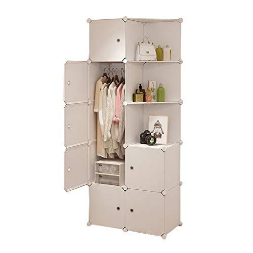 wardrobe Divide-grid Armoire colgante esquina extraíble almacenamiento ropa de plástico
