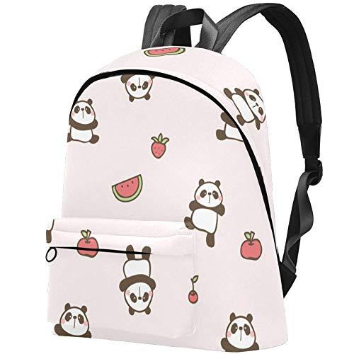 Laptop-Rucksack, College-Schulrucksack, wasserabweisend, lässiger Tagesrucksack für Damen/Mädchen/Business Pink Panda Cloud Rosa Panda Wassermelone 17.3x13.7x5.5 in